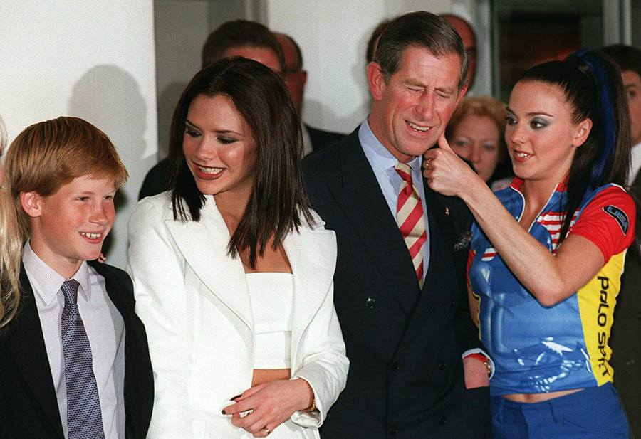 Prince Harry (L) Poses With Spice Girls