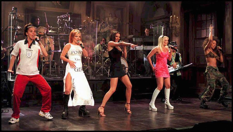 The English Pop Group The Spice Girls Perform On SNL