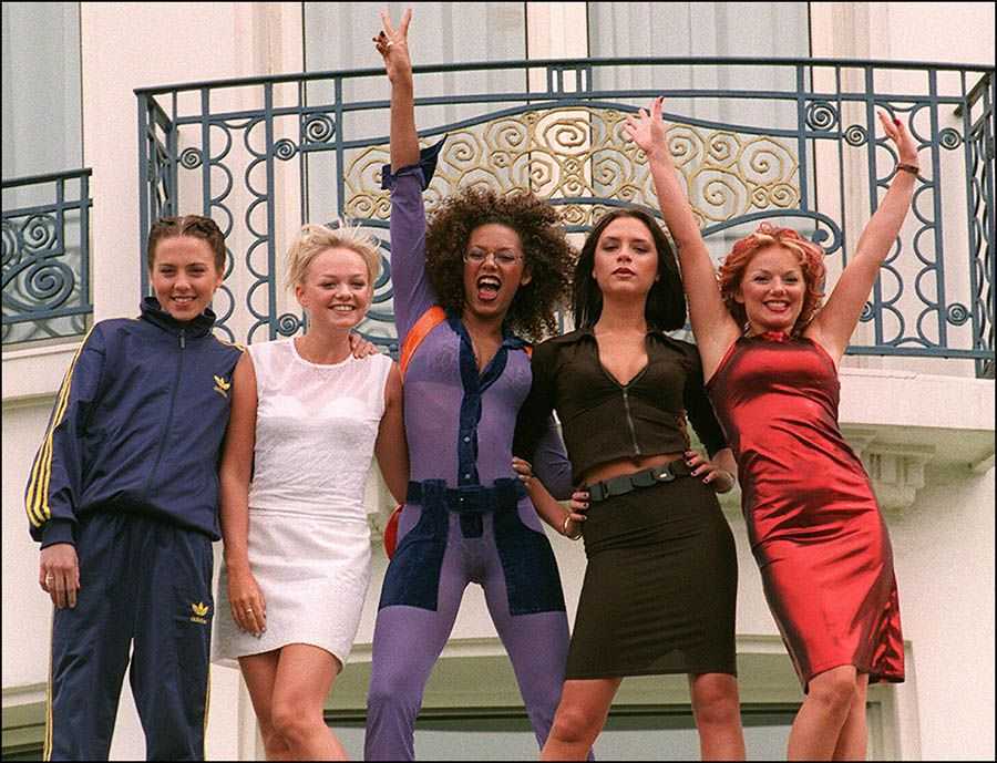 "The ""Spice Girls"" Pose For Photo"