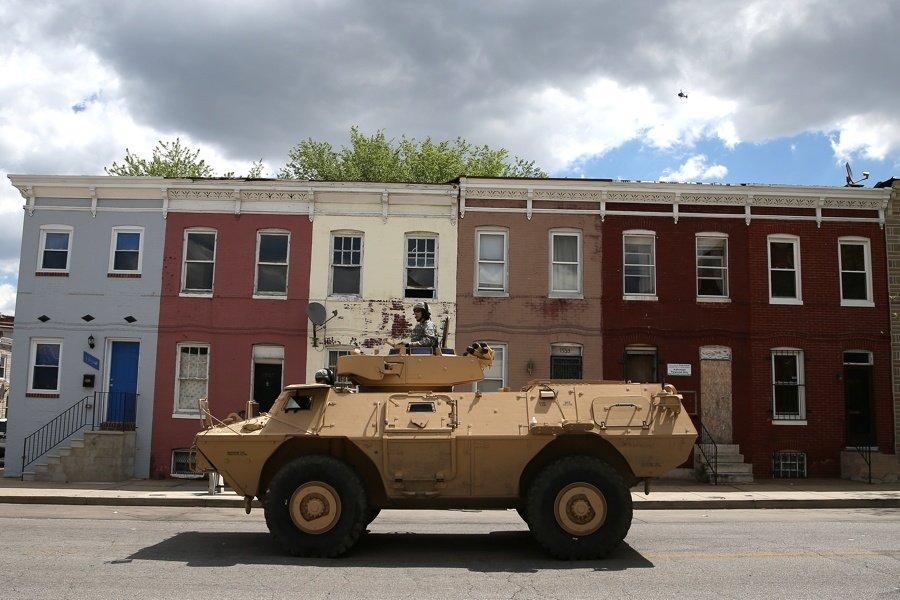 Armored Vehicle In Baltimore