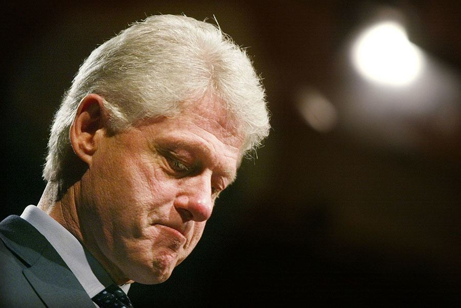Bill Clinton Frowning