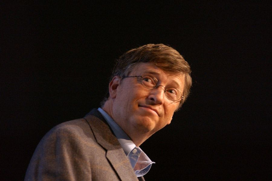 Bill Gates Black Background
