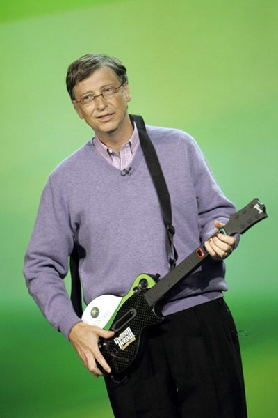 Bill Gates With The Xbox Guitar