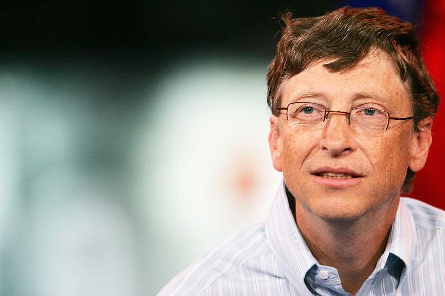 Bill Gates Red And White