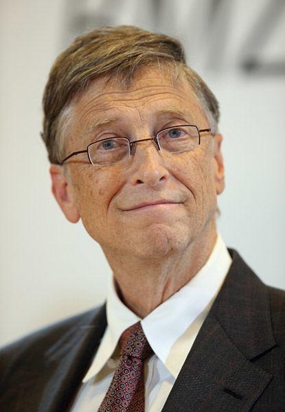 Bill Gates Red Tie