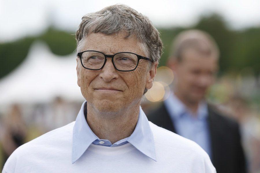 Bill Gates White Sweater