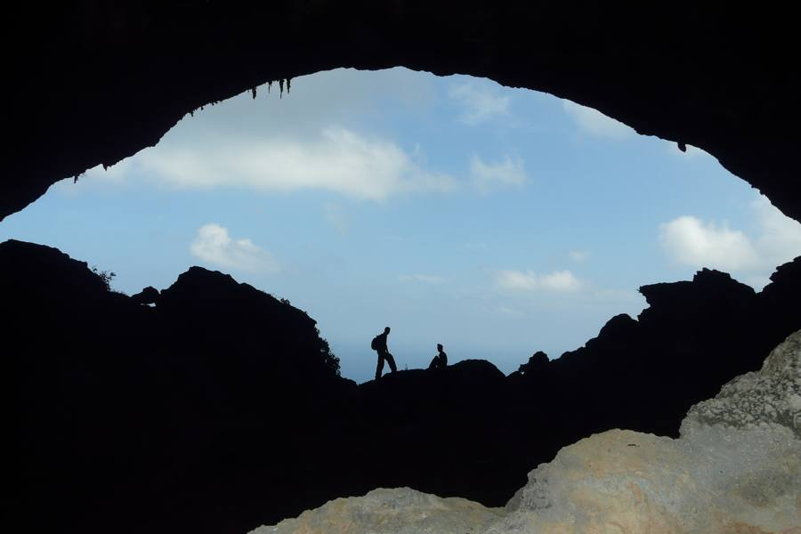 Silhouettes In Cave