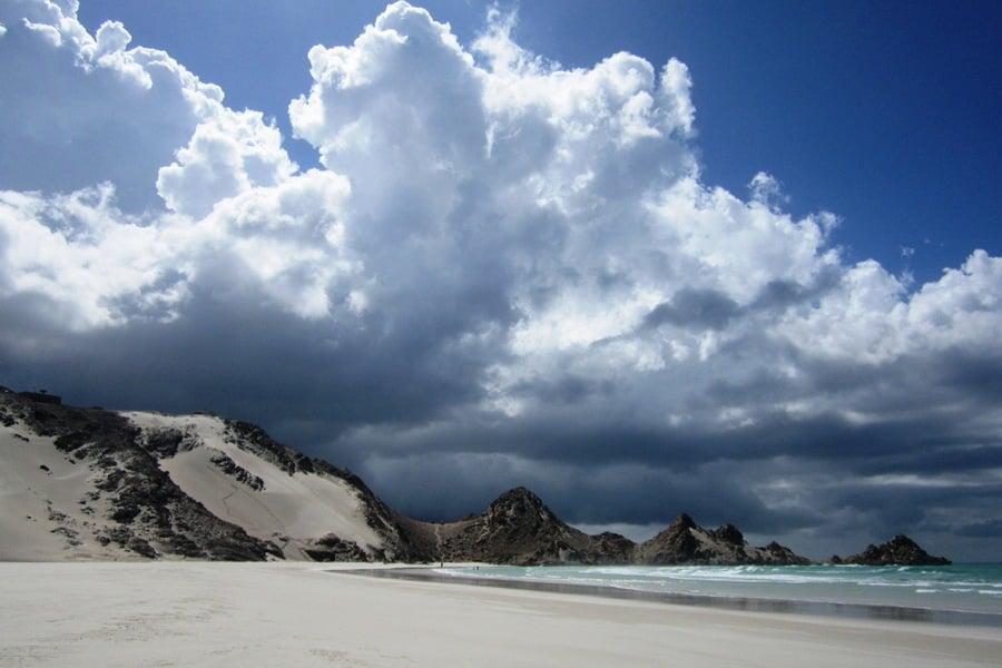 Clouds Above Beach