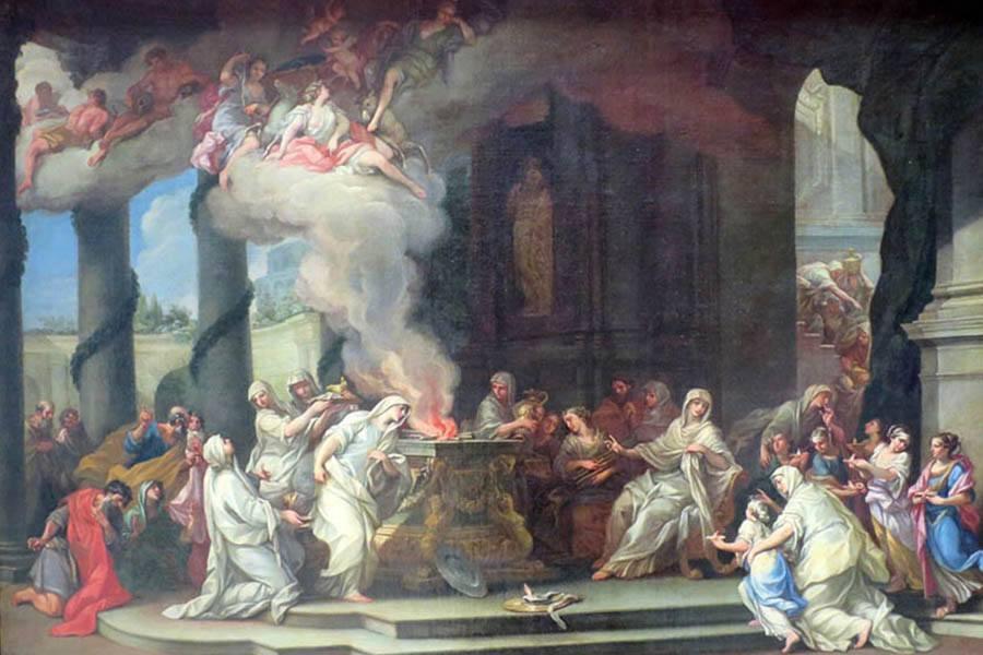 Dedication Of A New Vestal Virgin