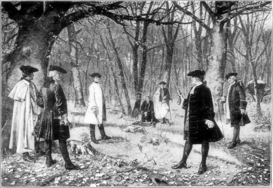 Aaron Burr And Alexander Hamilton Duel