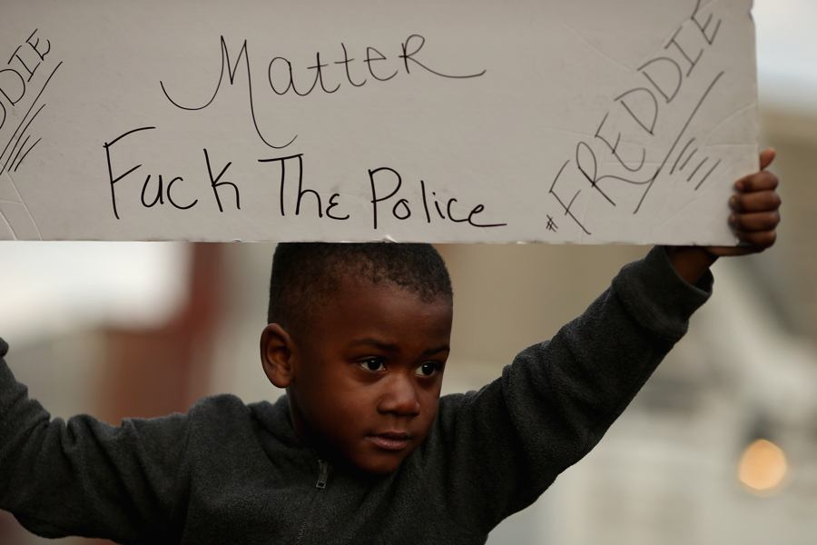 Kid Holding Protest Sign