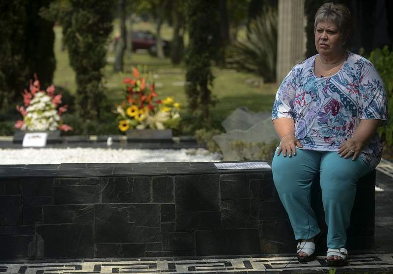 Luz Maria Escobar At Pablo Escobars Grave