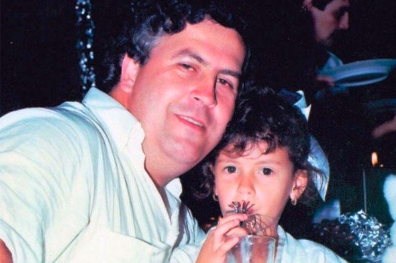 Manuela Escobar with father Pablo Escobar