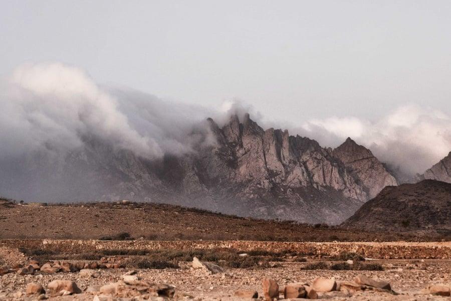 Mountains Rock Fog