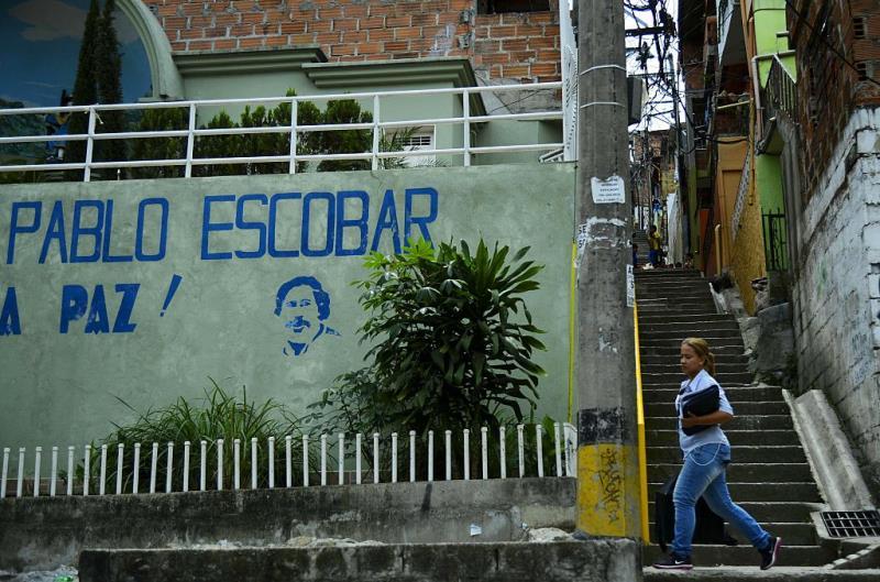 Pablo Escobar Graffiti In Medellin