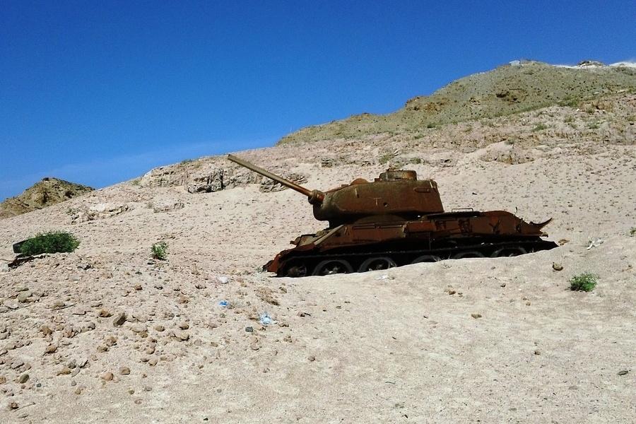 Tank On Beach