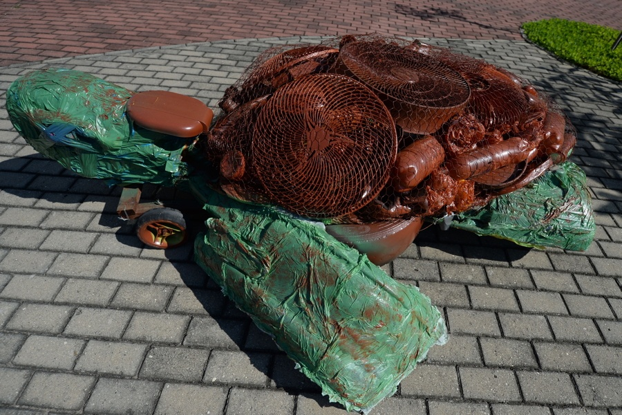 Water Trash Sculpture