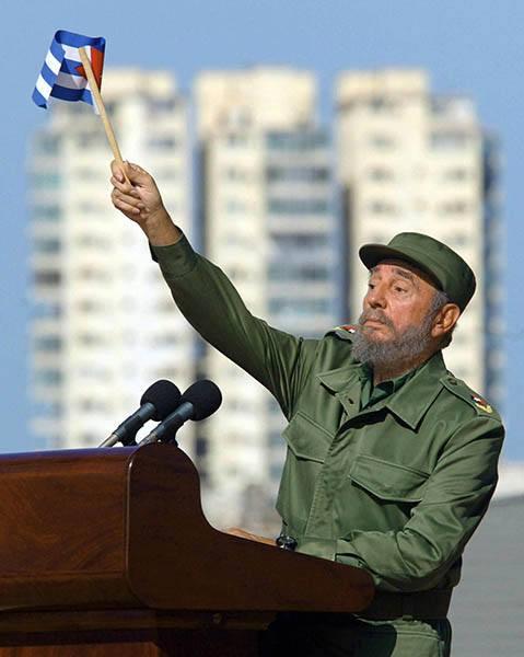 Fidel Waving Flag
