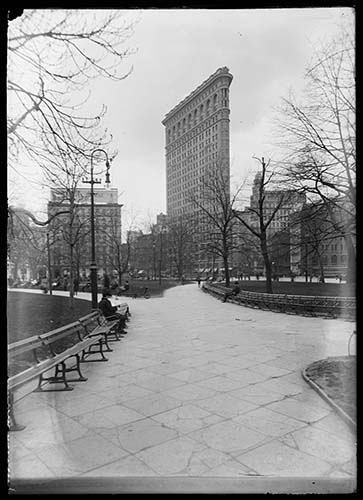 The Flatiron Building (Fuller Building) Seen From Across Madison Square Park, Undated (ca. 1902 1919).