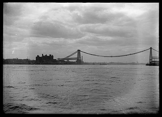 The Williamsburg Bridge Under Construction, New York City, April 27, 1902.