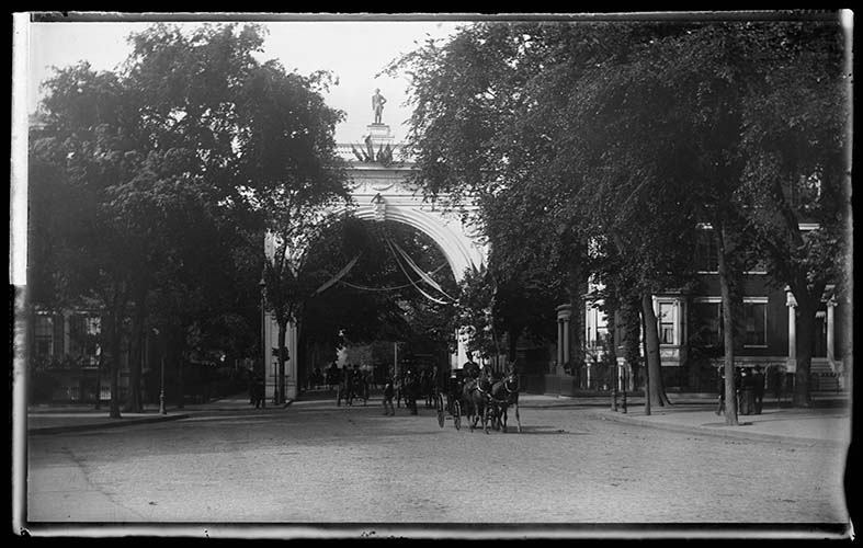The Original Washington Square Arch, New York City, 1889.