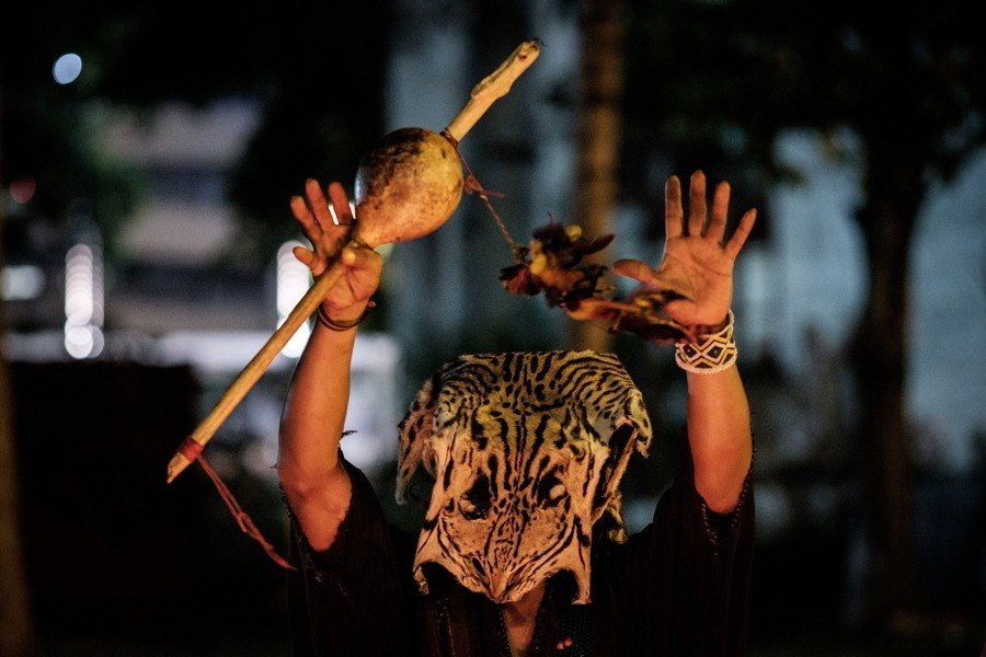 Witch Doctor In Animal Mask