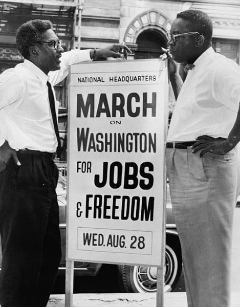 Bayard Rustin March On Washington