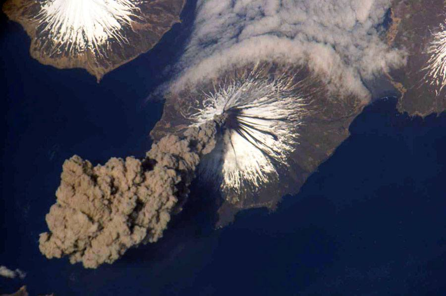 FILE:  Eruption Of Cleveland Volcano