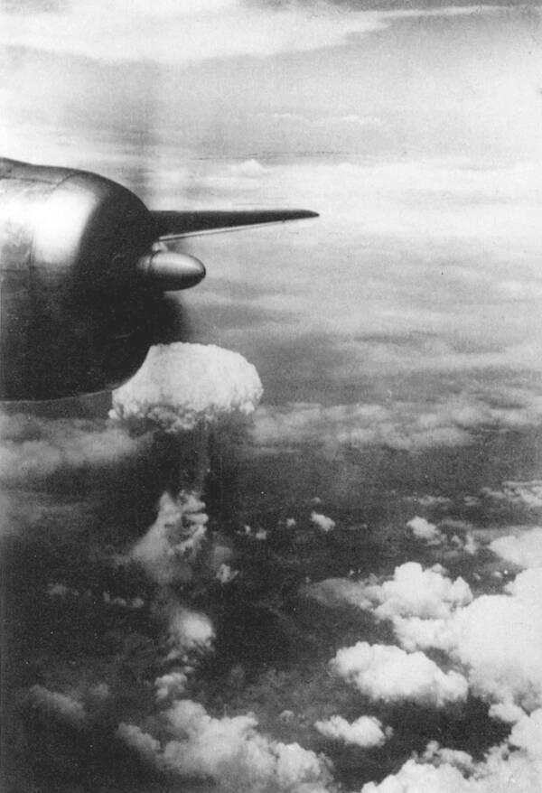 Cloud From Atomic Bombing Of Nagasaki