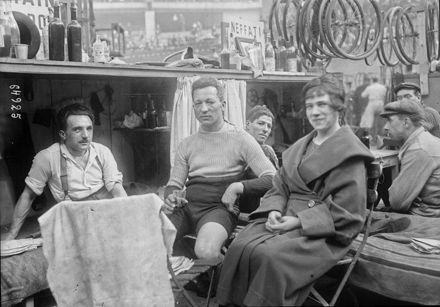 Cyclist In 1920s Paris