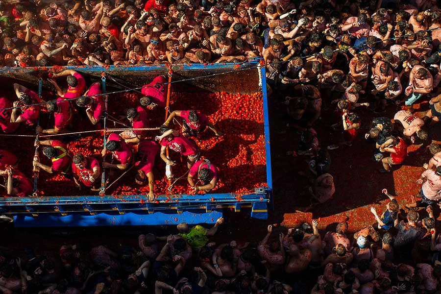 La Tomatina Festival Delivery Truck