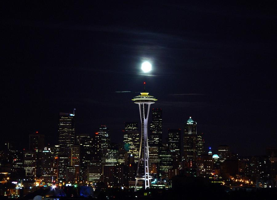 Doomed Cities Seattle Nighttime