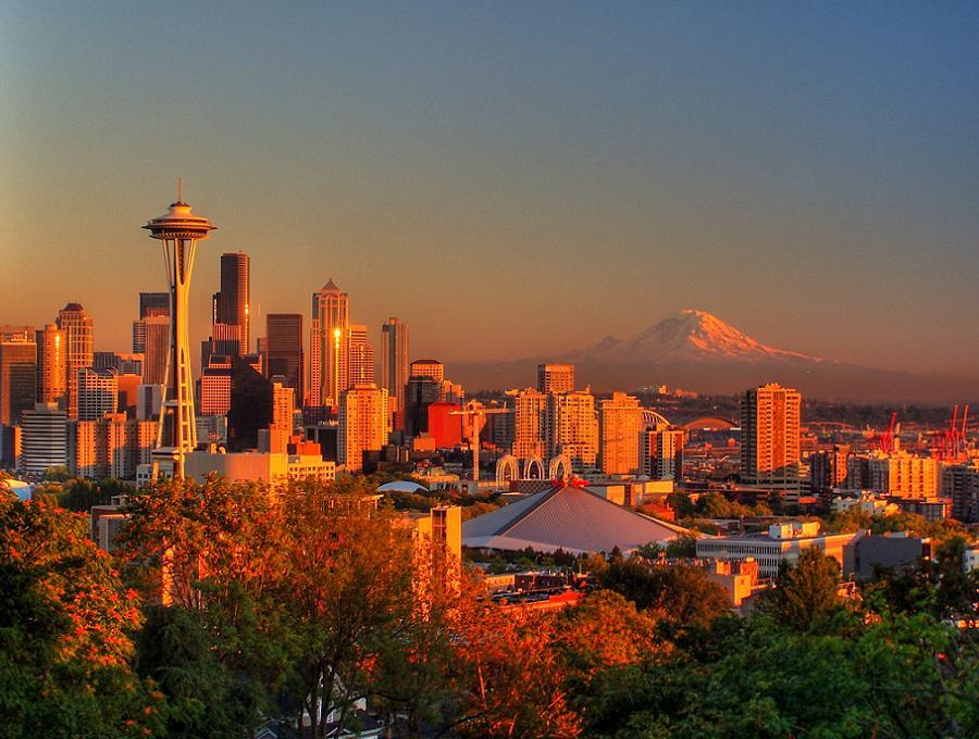 Doomed Cities Seattle Sunset