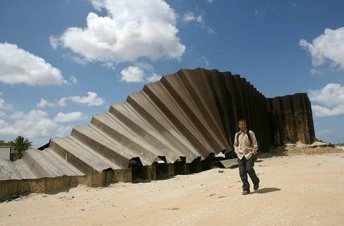 Egypt Gaza Wall Boy