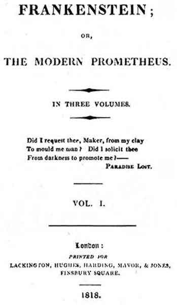 Frankenstein First Edition