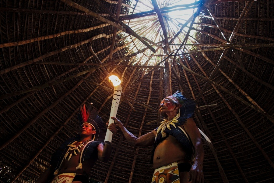 Shamans Holding Torch