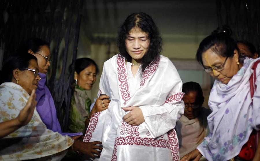 Irom Sharmila White Robe