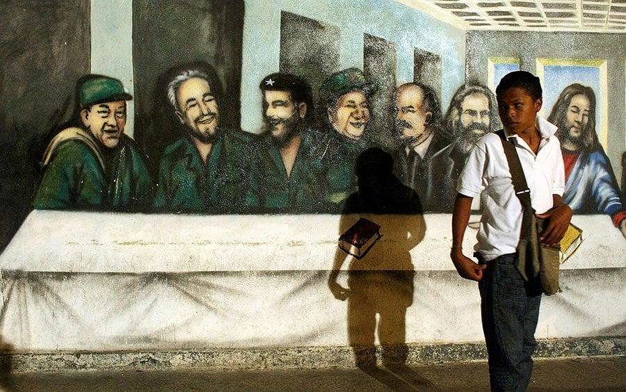 Jesus Communism Mural