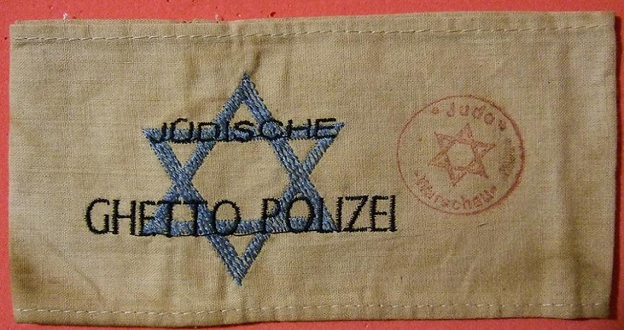 Jewish Collaborator Police Armband
