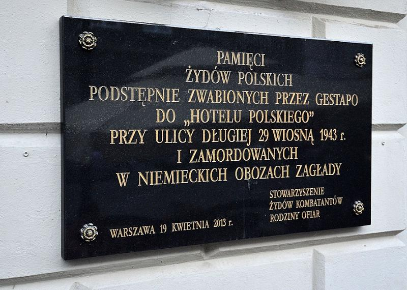 Plaque Commemorating Holocaust Victims