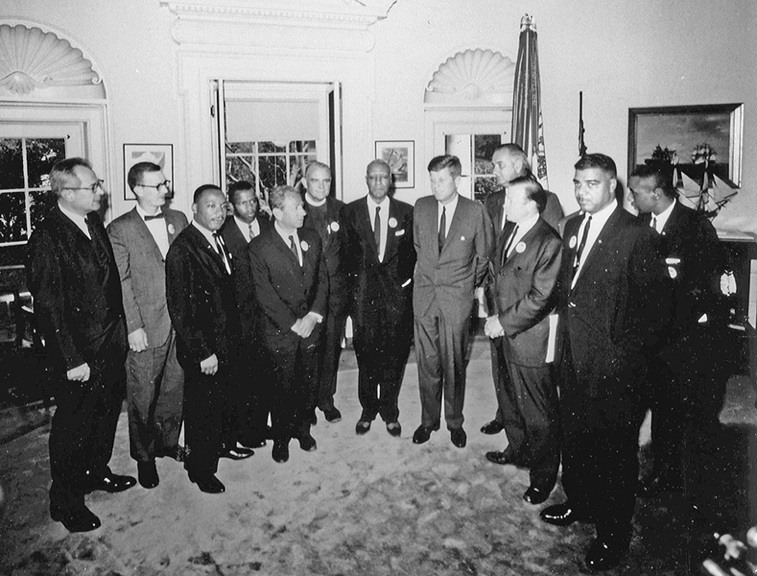 John F. Kennedy Meets With 1963 March On Washington Leaders