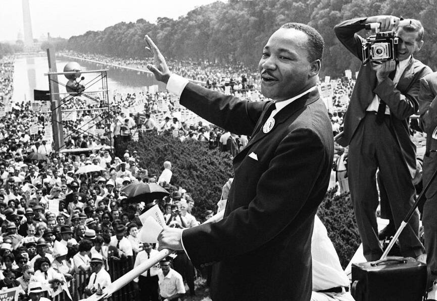 Martin Luther King Giving I Have A Dream Speech