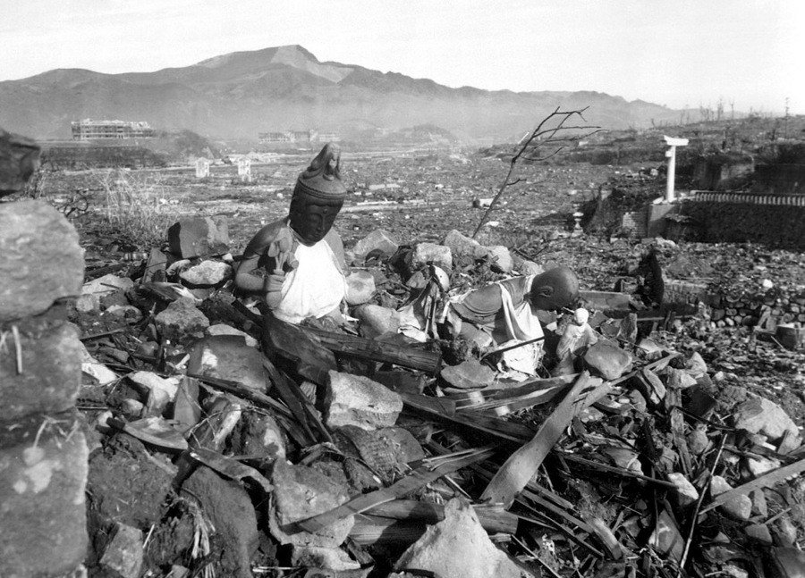The Aftermath Of The Nagasaki Bombing