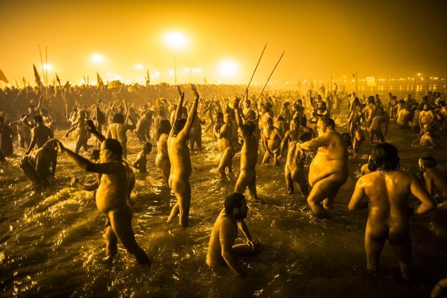 Nude Men In Water