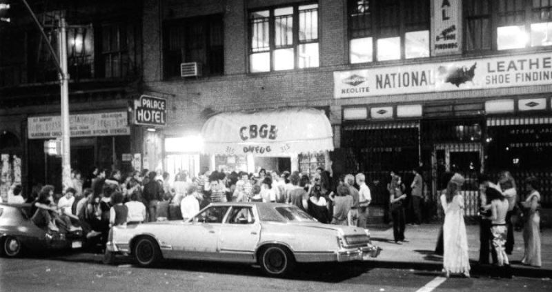 Outside Of Cbgb 1977