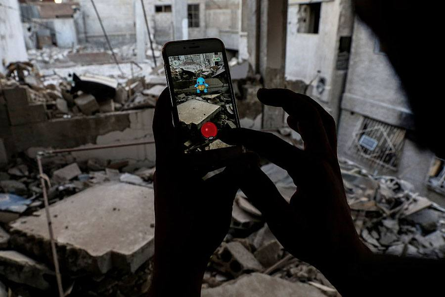 Pokemon Go Syria Rubble