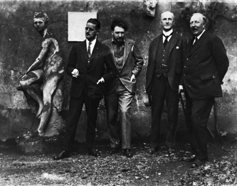 James Joyce And Ezra Pound In Paris