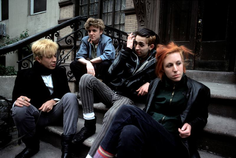 Punks On A Stoop In NYC