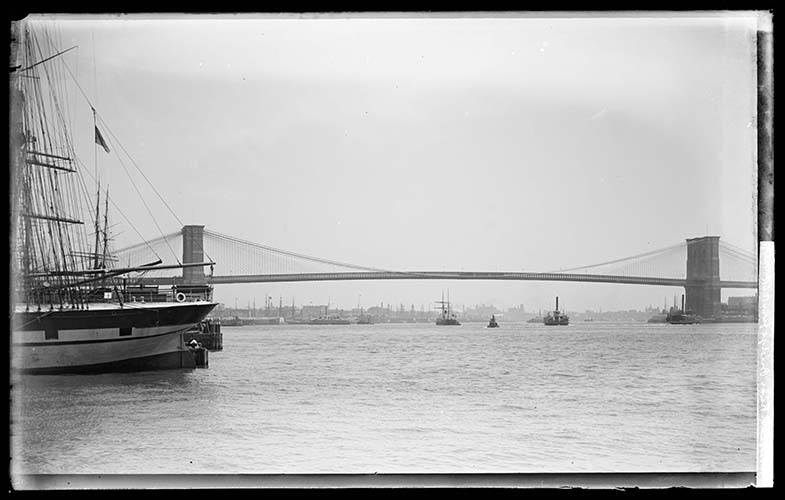 Rooklyn Bridge From The East River At 12th Street 1891