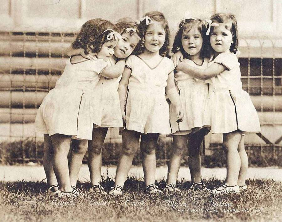 The Dionne Quintuplets In 1937